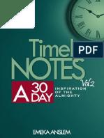 Timely Notes 30-Day Devotional -Vol 2 by Emeka Anslem