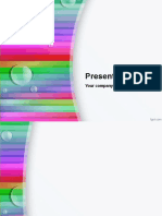 A PPT Template with Rainbow Lines