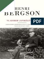 Jankelevitch Henri Bergson