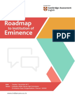 Roadmap to Institution of Eminence