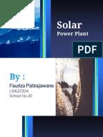 Renewable Energy-solar Power Station-fauriza