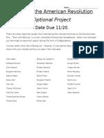 revolutionary  war  project 2