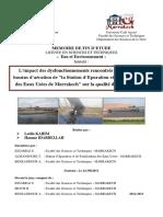 L'Impact Des Dysfonctionnements Rencontrés Au Niveau Des Bassins d'Aération de La STEP Et de Réutilisation Des Eaux Usées de Marrakech Sur La Qualité Des Eaux Traitées__idabdellah-kahim