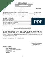 Okiya Omtatah Supreme Court Certificate of Urgency