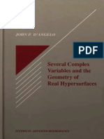 John P. D'Angelo,Several Complex Variables and the Geometry of  Real Hypersurfaces