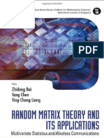 Zhi Dong Bai,Random Matrix Theory and its Applications