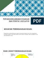 Pertanggungjawaban Keuangan Dan Otoritas Legislative