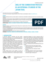 [Journal of Middle European Construction and Design of Cars] a Multi-Zone Model of the Combustion Process in an Si Engine as an External Cylinder of the Gt-Power Simulation Tool