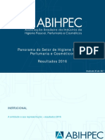 Panorama Do Setor ABIHPEC 2017