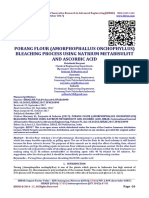 PORANG FLOUR (AMORPHOPHALLUS ONCHOPHYLLUS) BLEACHING PROCESS USING NATRIUM METABISULFIT AND ASCORBIC ACID