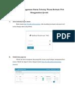 Panduan Penggunaan Sistem Ticketing Wisata Berbasis Web Menggunakan Qrcode