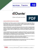 News Tecnica n.10 AudioNetworking DANTE