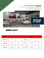 Aeroescuela Enero 2017 Aeronaves