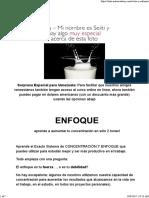 Leche y Enfoque - Arata Academy