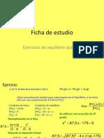 Ficha de Estudio Ejercicios de Equlibrio Químico Con Gases