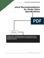 Master Flo Choke Valve Catalogue Valve Subsea Technology