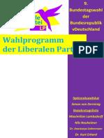 Wahlprogramm Der LP 9. Bundestagswahl