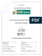 IDBI -Retail Banking-Summer Internship