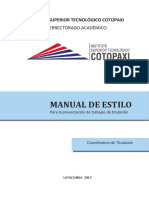 Manual de Estilo ISTC