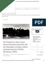 Links, El Proyecto Libro Azul, Documentos Secretos de Los Estados Unidos Sobre Avistamientos OVNIs (Enlaces, PDF)