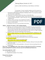 mga meeting minutes october 24