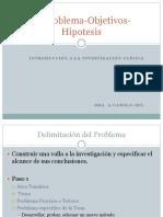 El Problema Objetivos Hipotesis 2014