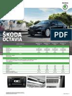 Ficha Tecnica Skoda Octavia 2017