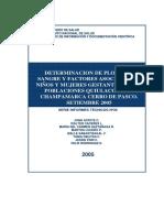 Determinacion de Plomo en Sangre y Factores Asociados en Niños y Mujeres Gestantes de Las Poblaciones Quilacocha y Campamarca Cerro de Pasco