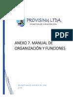 Manual de Organización y Funciones Provisinu Ltda..PDF