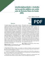 PREVIATTI Interdisciplinaridade e Trabalho Multiprofissional - Complementar
