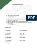 Cuáles Son Los Valles Más Productivos Del Perú