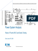 Power Systems Rules of Thumb