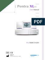 ABX Pentra XL 80 Manual