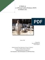 A Study on Performance of Private Latrine Producer (PLP) in Dishari Area_Mohammad Ali