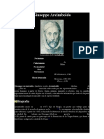 ARCIMBOLDO, GIUSEPPE, - Datos Biográficos y Obra