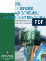 Innovacion Educacion Superior y Actividad rial en La Rep. Dom.