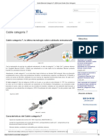 Cable Ethernet Categoría 7 LSZH (Low Smoke Zero Halogen)