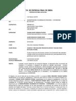 Acta de Entrega Cont. 109 de 2016