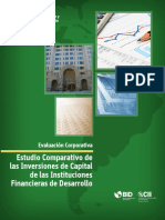 Estudio Comparativo de Las Inversiones de Capital de Instituciones Financieras de Desarrollo