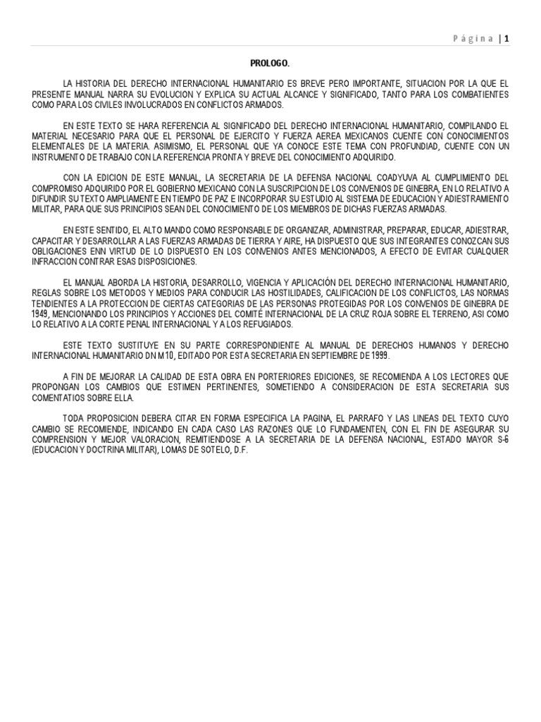 manual de derecho internacional humanitario sedena rh es scribd com