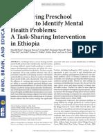(2017) Empowering Preschool Teachers to Identify Mental Health Problems a Task-Sharing Intervention in Ethiopia
