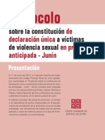 Protocolo Declaración Unica DVLS Prueba Anticipada