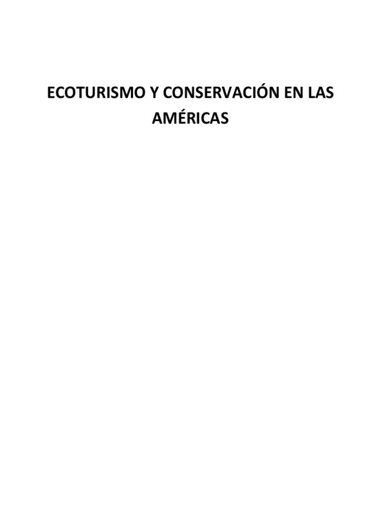 Ecoturismo y Conservación en Las Américas