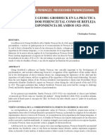Influencias de Georg Groddeck en La Practica Clinica de Sandor Ferenczi