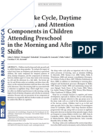 (2016) Sleep–Wake Cycle, Daytime Sleepiness, And Attention Components in Children Attending Preschool in the Morning and Afternoon Shifts