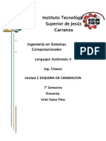 Esquema de Generaciones Tarea Chavez