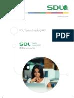 SDL Trados Studio 2017 Release Notes