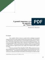 FONSECA, Francisco - A Grande Imprensa e a Constituição Da Agenda Ultraliberal Na Nova Nova República