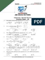 Bionomial Theorem Paper 02