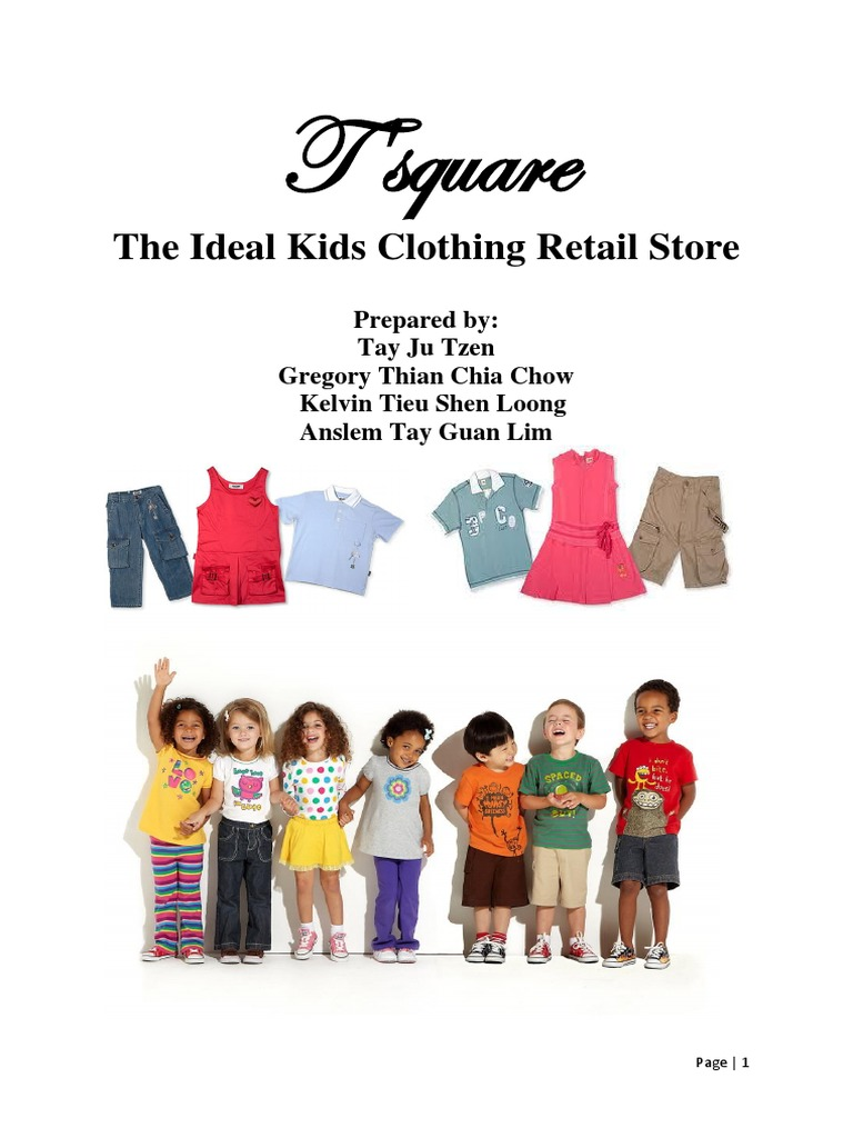 219201044 Kids Clothing Store Business Plan Docx Retail Risk